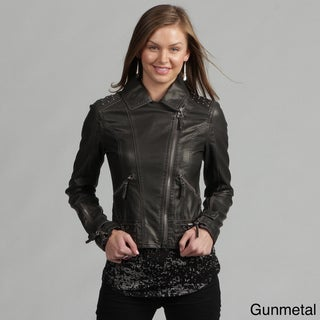 Miss Sixty Women's Faux Leather Studded Motorcycle