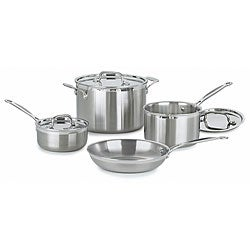 Cuisinart Multiclad 7-Piece Pro Stainless Steel Cookware Set