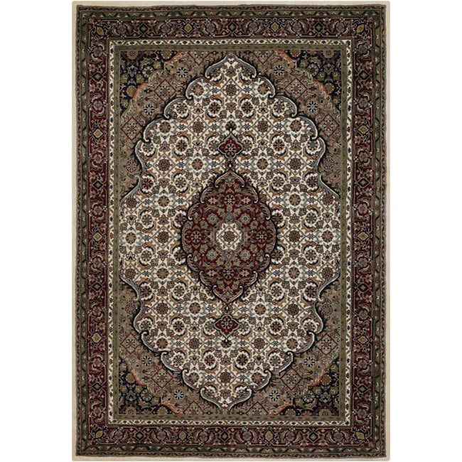 Area Rugs From India: Mandara Hand-knotted Traditional Indian Wool Area Rug (9