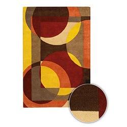 Hand-tufted Mandara Contemporary Wool Rug (5' x 7'6)