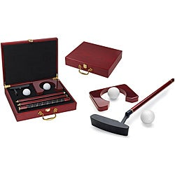 Picnic Time Ace Executive Travel Putter Set with Wood Case