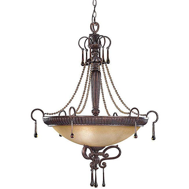 Island Gold 3 Light Inverted Pendant Light Fixture