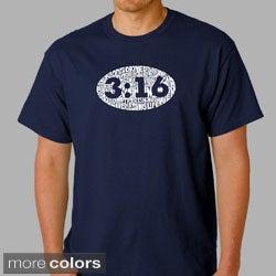 Los Angeles Pop Art Men's 'John 3:16' T-shirt