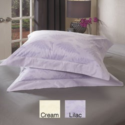 Fern Print 230 Thread Count Decorative Pillow Shams (Set of 2)