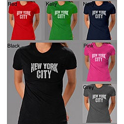 Los Angeles Pop Art Women's New York City T-shirt