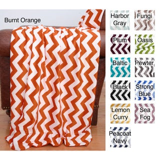 50-inch x 60-inch Chevron Throw