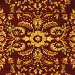 Safavieh Lyndhurst Collection Persian Treasure Red/ Black Rug (4' x 6')