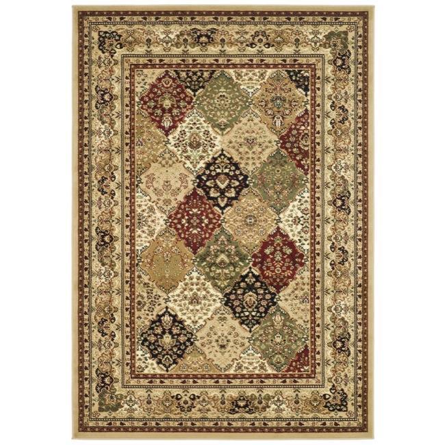 Safavieh Lyndhurst Collection Multicolor/ Beige Rug (9' x 12')