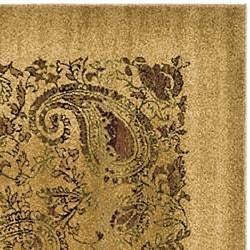 Safavieh Lyndhurst Collection Paisley Beige/ Multi Rug (8' Square)