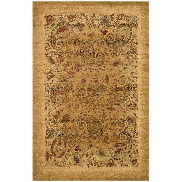 Safavieh Lyndhurst Collection Paisley Beige/ Multi Rug (9' x 12')
