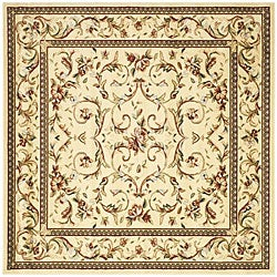 Safavieh Lyndhurst Collection Traditional Ivory/ Ivory Rug (8' Square)