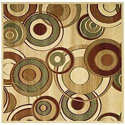 Safavieh Lyndhurst Collection Circ Ivory/ Multi Rug (6' Square)