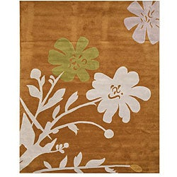 Hand-tufted Porto Floral Wool Rug (7'9 x 9'9)