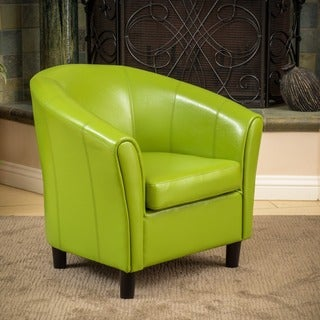 Christopher Knight Home Napoli Lime Green Bonded Leather Club Chair