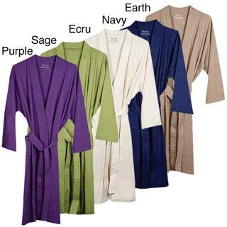 Women's Organic Cotton Knitted Bath Robe