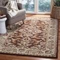 Safavieh Handmade Heritage Kerman Brown/ Ivory Wool Rug (5' x 8')