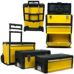 Portable 3-in-1 Steel Tool Chest