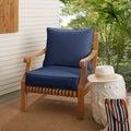 Clara Wicker Outdoor Arm Chair Cushion/ Throw Pillow Set with Sunbrella Fabric