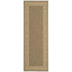 Safavieh Indoor/ Outdoor Coffee/ Sand Rug (2'7x 8'2)