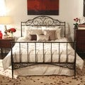 ETHAN HOME Camelia Graceful Scroll Bronze Iron Full-size Sleigh Bed