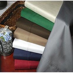 Simple Elegance Egyptian Cotton Sateen 400 Thread Count Deep Pocket Solid Sheet Set