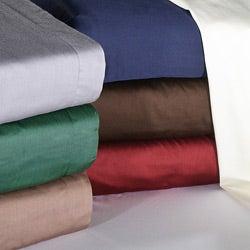 Luxor Treasures Egyptian Cotton Soft 400 Thread Count Solid Sateen Finish 3-piece Duvet Set