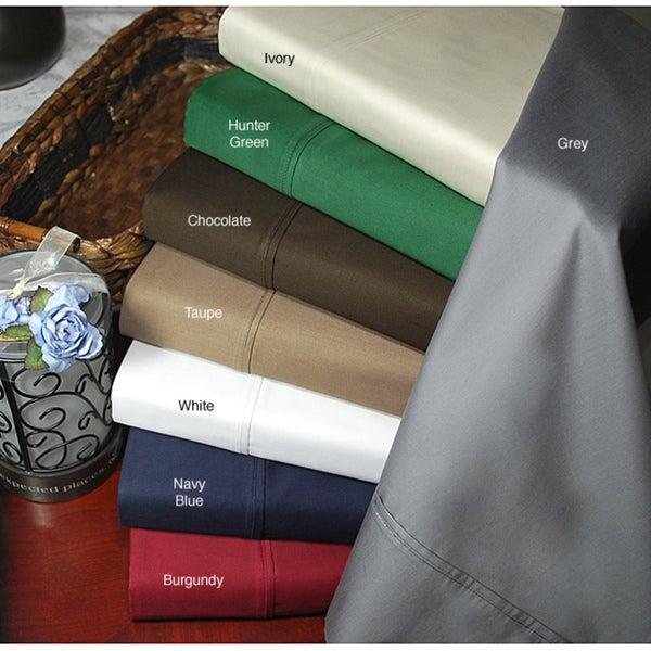 Egyptian Cotton 400 Thread Count Solid Pillowcase Set