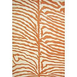 Alliyah Handmade Orange New Zealand Blend Wool Rug (8' x 10')