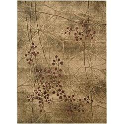 Nourison Summerfield Latte Floral Rug (3'6 x 5'6)