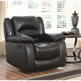 ABBYSON LIVING Brownstone Premium Top-grain Leather Reclining Armchair
