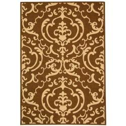 Safavieh Indoor/ Outdoor Bimini Chocolate/ Natural Rug (9' x 12')