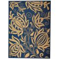 Safavieh Indoor/ Outdoor Andros Blue/ Natural Rug (9' x 12')