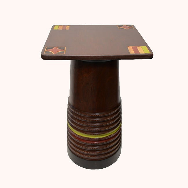 Hand-finished Pillar Stool and Pedestal (Ghana)