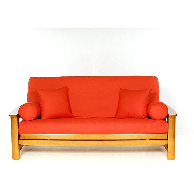 orange full size futon cover