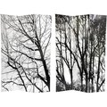 Canvas Winter Trees Double-sided 6-foot Room Divider (China)