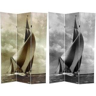 Canvas Sailboat Double-sided 6-foot Room Divider (China)