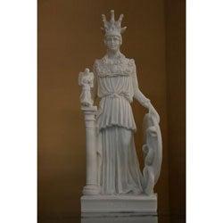 White Bonded Marble Athena Varvakeion Replica Statue