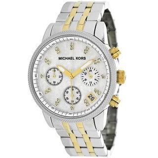 Michael Kors Women's MK5057 Ritz Chronograph Stainless Steel Watch