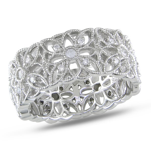 Haylee Jewels Sterling Silver 1/3ct TDW Diamond Ring (H-I, I3)