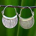 Silver 'Diva' Hoop Earrings (Thailand)