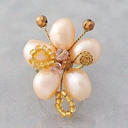 Pearl Flower Adjustable Ring (Thailand)