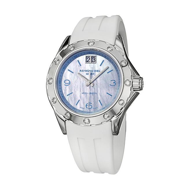 Raymond Weil Women's 'RW Spirit' Brushed Stainless Steel Diamond Watch