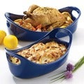 Rachael Ray Stoneware Bubble and Brown 2-piece Set: 1.25-quart and 2.25-quart, Blue