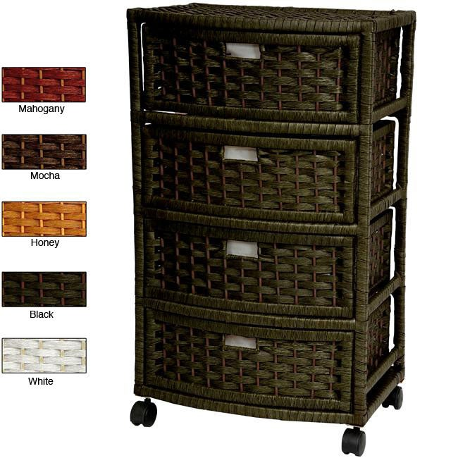 Natural Fiber 29-inch Chest of Drawers (China)