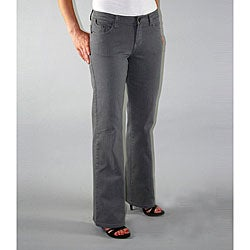 Institute Liberal Women's Grey Twill Bootcut Pants