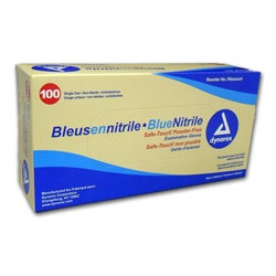 Safe-touch Powder-free Nitrile Exam Gloves (Case of 1000)