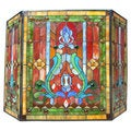 Victorian Stained Glass Fireplace Screen