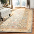Handmade Legacy Light Blue Wool Rug (8&#39; Square)