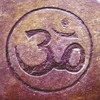 Yoga and Meditation 'Om' Circle for Eternity Inspirational Healing Stone