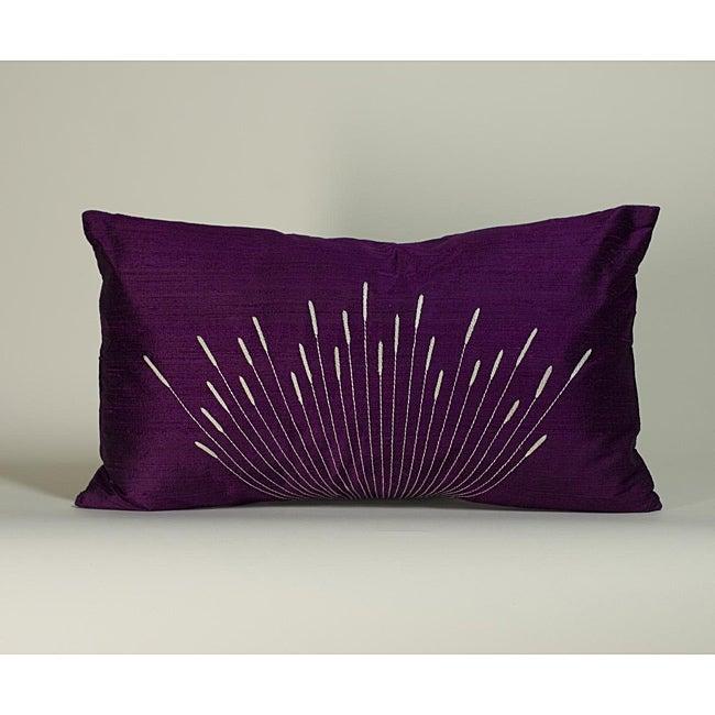 'Branches' Purple 12x20-inch Decorative Pillow